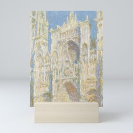 Rouen Cathedral West Facade Sunlight by Claude Monet, 1894 Mini Art Print