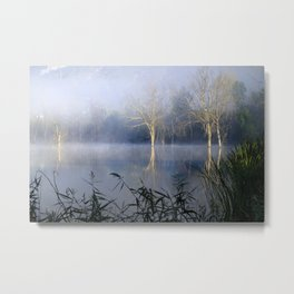 Lost In The Mammoth Paradise. Foggy sunrise at the laggon Metal Print