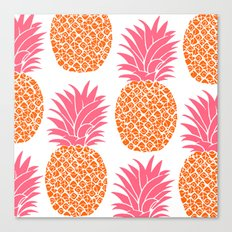 Modern Pineapples Canvas Print