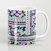 blanket Mugs featuring Psychedelic blanket by Asja Boros