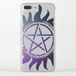 Saving People, Hunting Things, The Family Business Ombre Anti Possession Symbol Clear iPhone Case