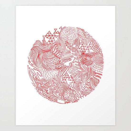 Earthquake Art Print