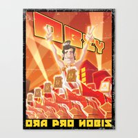 obey Canvas Prints featuring Obey by Dr.Ink Maniac Division