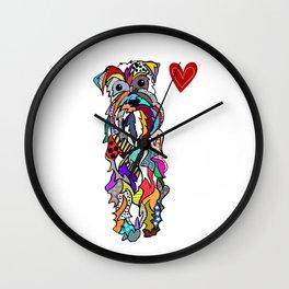 Oh Schnauzer my love Wall Clock