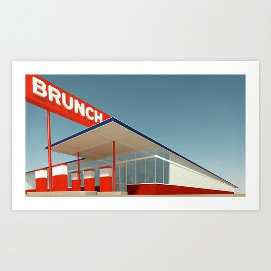 Ed Brunch Art Print