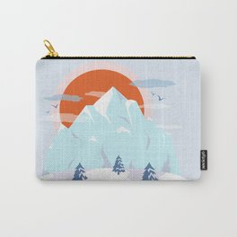 Winter breeze in Alpes Carry-All Pouch