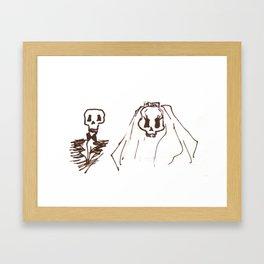 Skeleton Wedding Framed Art Print
