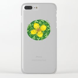 Lucky Clover Clear iPhone Case