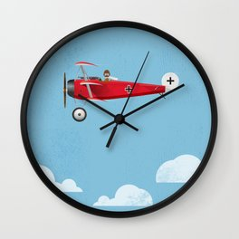 The Red Baron Wall Clock