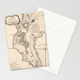 Vintage Map of Monaco France (1764) Stationery Cards