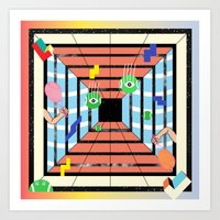 tennis Art Prints featuring Tennis by Kamolsky