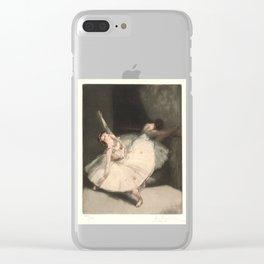Ballerinas (Danseuse à la barre) Clear iPhone Case