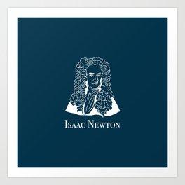 Illustration of Isaac Newton Art Print