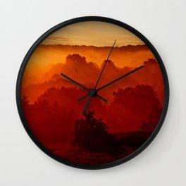 Mystical foggy morning Wall Clock