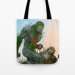 Green Man cover art Tote Bag
