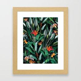 Midnight Garden V Framed Art Print