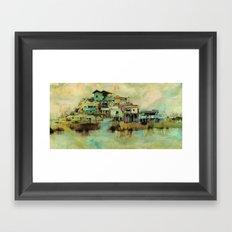 Drifting Along Tonle Sap River, Cambodia Framed Art Print