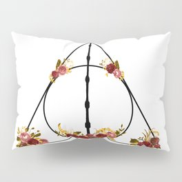 Deathly Hallows in Red and Gold Pillow Sham