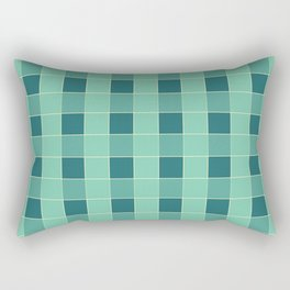 PLAID, TEAL AND SEAFOAM Rectangular Pillow
