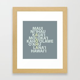 Hawaiian Islands Framed Art Print