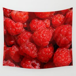 Wild berries of forest raspberries Wall Tapestry