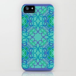 Gender Equality Tiled - Blue Green iPhone Case