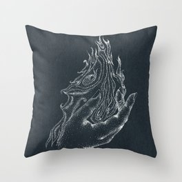 Fire starter -inverted color Throw Pillow