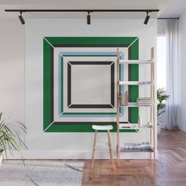 Green Blue And White Tile Wall Mural