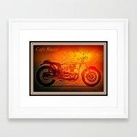 cafe racer Framed Art Prints featuring Cafe Racer by elkart51