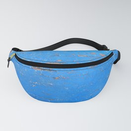 Blue Weathered Painted Wood Board Fanny Pack
