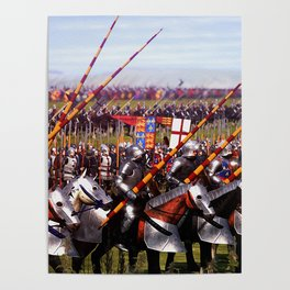 Medieval Army in Battle Poster