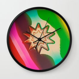 Rainbow roulette Wall Clock