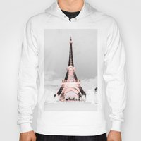 paris Hoodies featuring pariS Black & White + Pink by 2sweet4words Designs