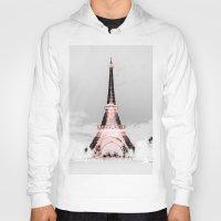 blankets Hoodies featuring pariS Black & White + Pink by 2sweet4words Designs