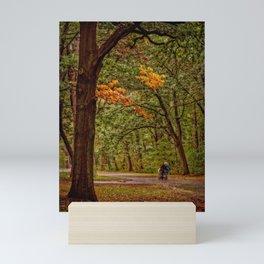 Autumn walk Mini Art Print