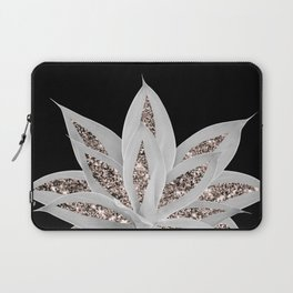 Gray Agave with Rose Gold Glitter #2 #shiny #tropical #decor #art #society6 Laptop Sleeve