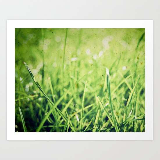 The grass isn't always greener on the other side! Art Print
