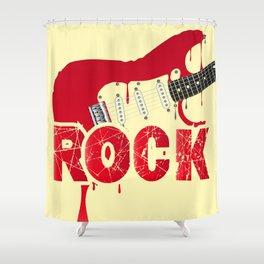 Melting Electric Rock Guitar Shower Curtain