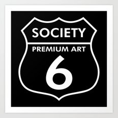 S6 Tee Collaboration : Road Society6 for a S6 Tee Art Print