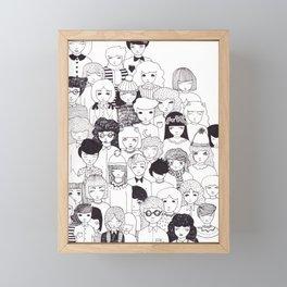 crowd Framed Mini Art Print