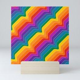 Rainbow Wave Mini Art Print
