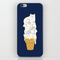 ilovedoodle iPhone & iPod Skins featuring Meowlting by I Love Doodle