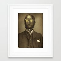 yellow Framed Art Prints featuring Baron Von Three PO  by Terry Fan