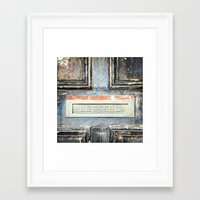 letters Framed Art Prints featuring LETTERS by nineteeneighty