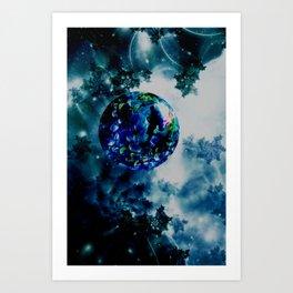 Celestial Marble Art Print