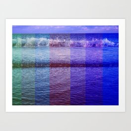 sea colour  Art Print