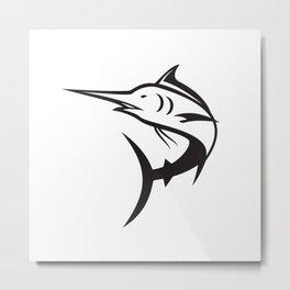 Blue Marlin Icon Metal Print