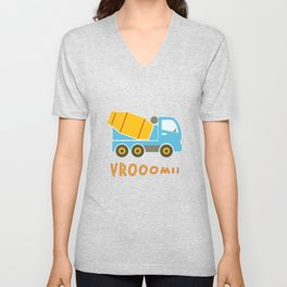 Cement mixer truck Unisex V-Neck