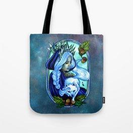 Winter Ice Queen Tote Bag