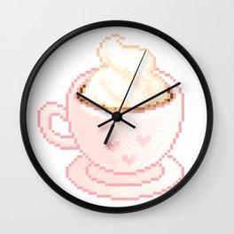 pixel coffee Wall Clock